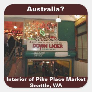 Interior of Pike Place Market Seattle, WA Sticker