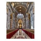Interior of St. Peter's Basilica Postcard