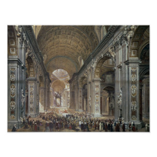 Interior of St. Peter's, Rome, 1867 Poster