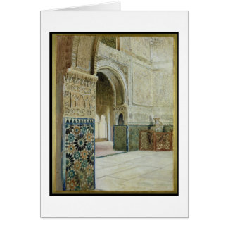 Interior of the Alhambra, Granada (w/c) Greeting Card