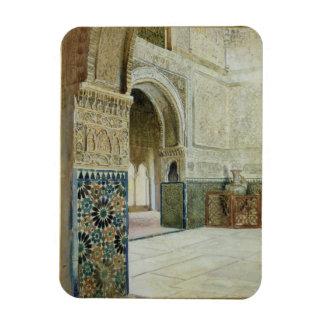 Interior of the Alhambra, Granada (w/c) Magnet
