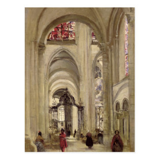Interior of the Cathedral of St. Etienne, Sens Postcard