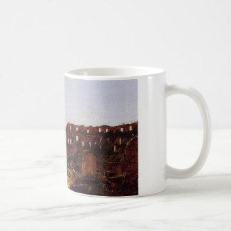 Interior of the Colosseum, Rome by Thomas Cole Classic White Coffee Mug