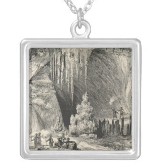 Interior of the Grotto of Antiparos Silver Plated Necklace