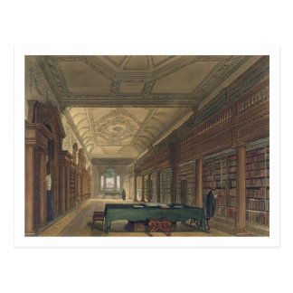 Interior of the Library of Christ Church, illustra Postcard
