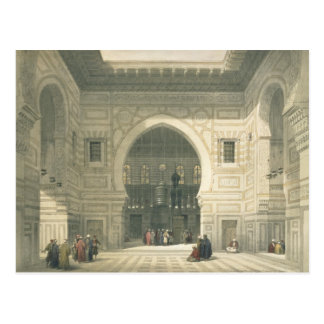 Interior of the Mosque of Sultan Hasan, Cairo, fro Postcard