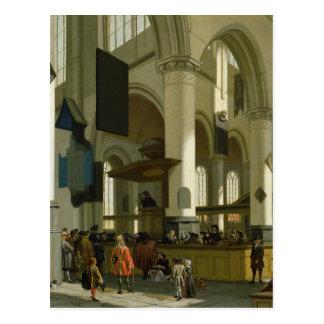 Interior of the Oude Kerk Postcard