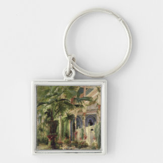 Interior of the Palm House at Potsdam, 1833 Silver-Colored Square Keychain