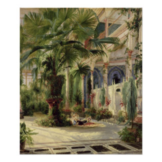 Interior of the Palm House at Potsdam, 1833 Poster