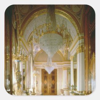 Interior of the Private Apartments Square Sticker