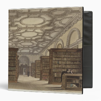 Interior of the Public Library, Cambridge, from 'T Binder