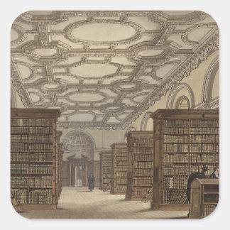 Interior of the Public Library, Cambridge, from 'T Square Sticker