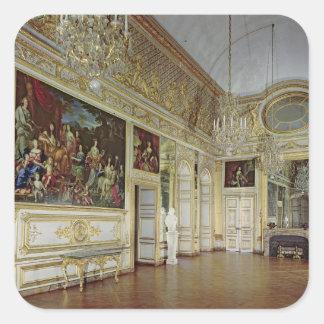 Interior of the Salon de l'Oeil de Boeuf Square Sticker