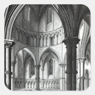 Interior of the Temple Church Square Sticker