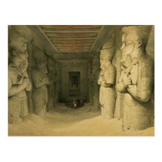 "Interior of the Temple of Abu Simbel, from ""Egypt Postcard"