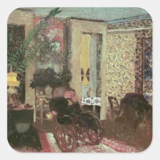 Interior or, The Salon with Three Lamps, 1899 Square Sticker