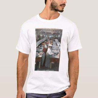 Interior View of Salmon Cannery Workers T-Shirt