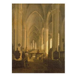 Interior view of St. John's Church in Hamburg Postcard