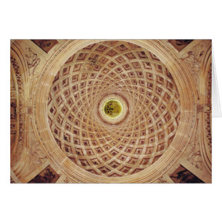 Interior view of the cupola in the chapel card