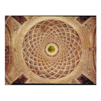 Interior view of the cupola in the chapel postcard
