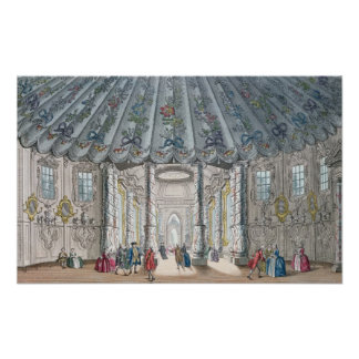 Interior View of the elegant music room Poster