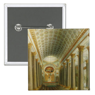 Interior view of the Kazan Cathedral 2 Inch Square Button