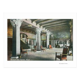 Interior View of the Mermaid Inn Postcard
