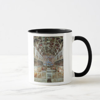 Interior view of the Sistine Chapel Mug
