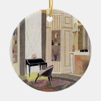 Interior with furniture designed by Ruhlmann, from Ceramic Ornament