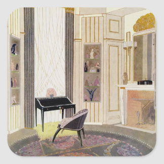 Interior with furniture designed by Ruhlmann, from Square Sticker
