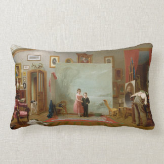 Interior with Portraits by Thomas Le Clear (1865) Pillow