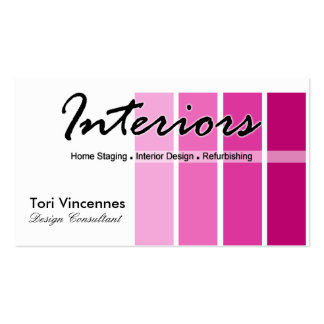 Interiors Home Staging Realty Designer business Business Card