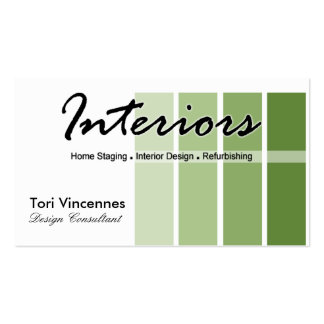 Interiors Home Staging Realty Designer business Business Card Templates