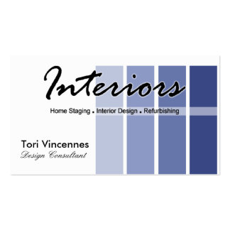 Interiors Home Staging Realty Designer business Double-Sided Standard Business Cards (Pack Of 100)