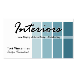 Interiors Home Staging Realty Designer business Pack Of Standard Business Cards
