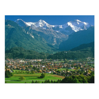Interlaken and the Jungfrau range Postcard