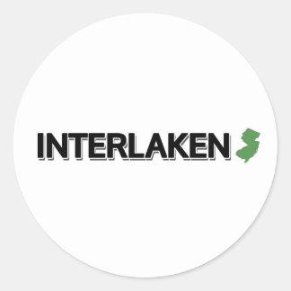 Interlaken, New Jersey Classic Round Sticker