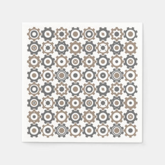 Interlocking Gears Pattern Disposable Napkins