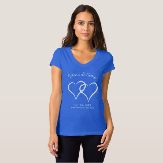 Interlocking Hearts Wedding Rehearsal Dinner T-Shirt