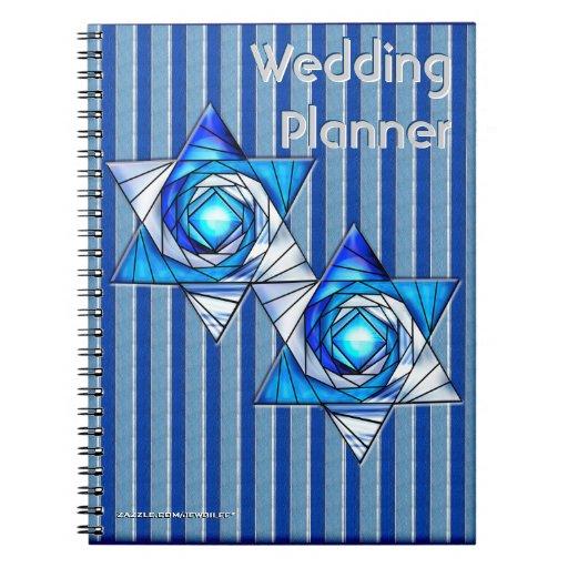 Interlocking Stars (Wedding Planner) Spiral Note Books
