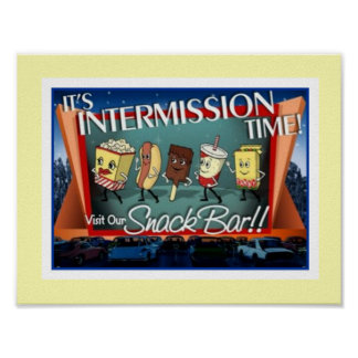 Intermission Snack Bar Poster