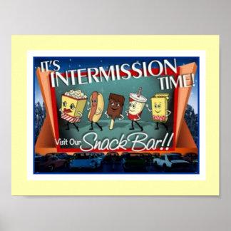 Intermission Snack Bar Poster