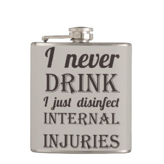 Internal Injuries Hip Flask