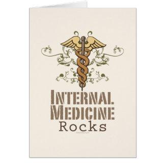 Internal Medicine Rocks Caduceus Greeting Card