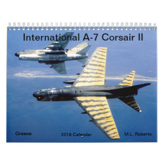 International A-7 Corsair II Wall Calendar