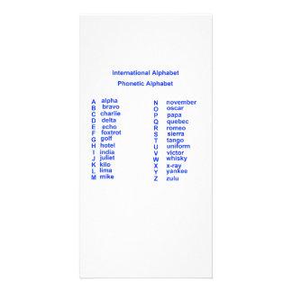 International Alphabet Custom Photo Card