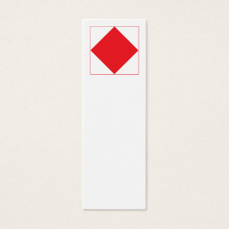 International Alphabet Flags F Mini Business Card