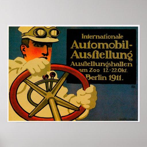 International Auto Show ~ Vintage Motor Car Ad Poster