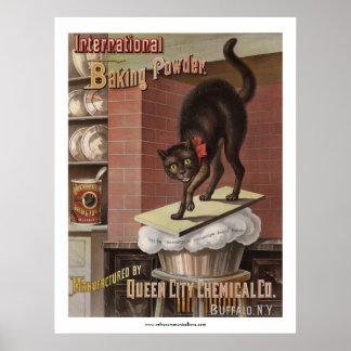 International Baking Powder Label Poster