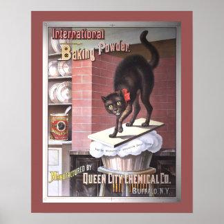 International Baking Powder Vintage Advertising Poster
